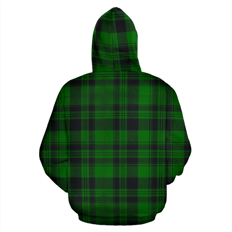 Green Plaid Tartan Sottish Hoodie