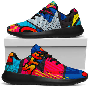 Abstract Graffiti Wow Print Running Shoes
