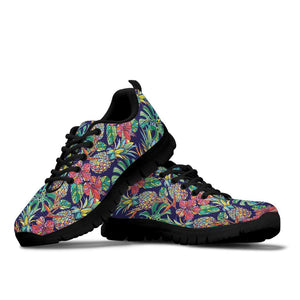 Tropical Floral Pineapple Print Sneakers