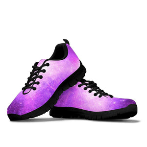 Abstract Purple Galaxy Space Sneakers