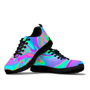 Abstract Iridescent Holographic Sneakers
