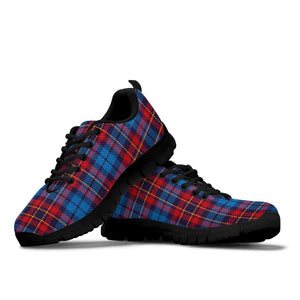 Tartan Red And Blue Plaid Sneakers