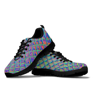 Holographic Snakeskin Print Sneakers