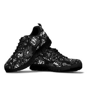 Satanic Gothic Witch Sneakers