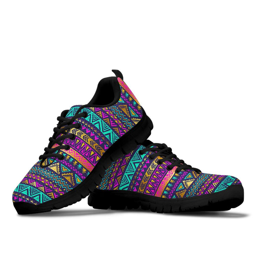 Multicolor Native Aztec Doodle Sneakers