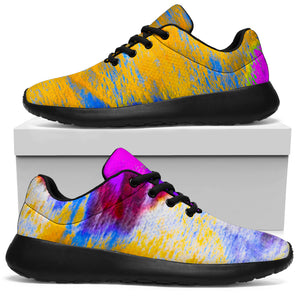 Abstract Tie Dye Running Shoes