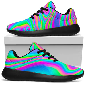 Abstract Iridescent Holographic Running Shoes