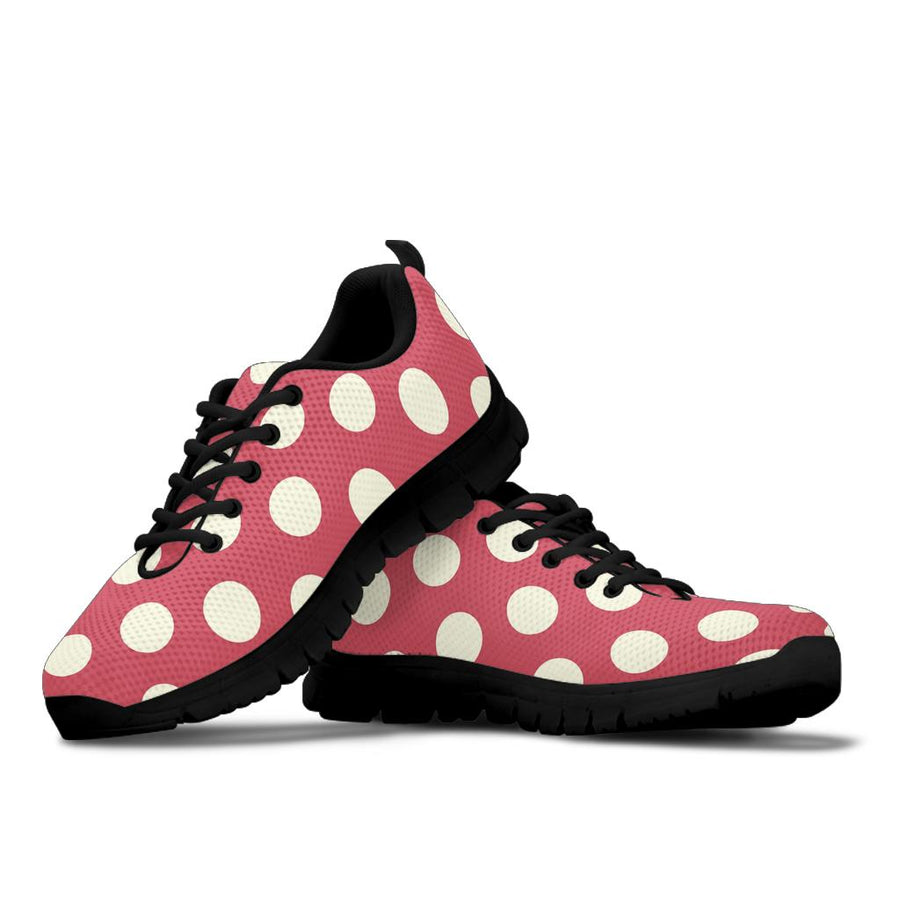 Vintage Red Polka Dot Sneakers