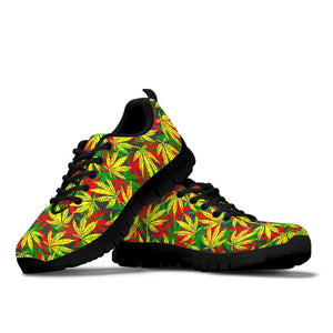 Tropical Reggae Leaf Sneakers
