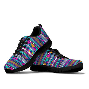 Multicolor Indian Aztec Geometric Art Sneakers