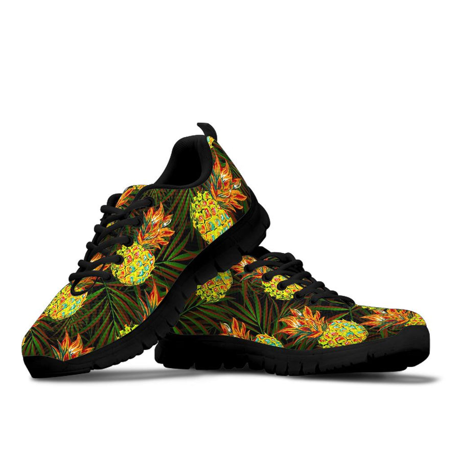 Hawaiian Golden Pineapple Edm Print Sneakers