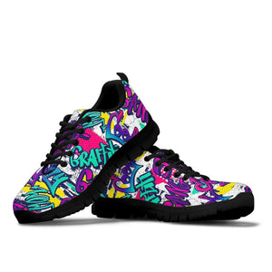Graffiti Hiphop Print Sneakers