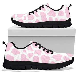 Pink White Cow Print Sneakers