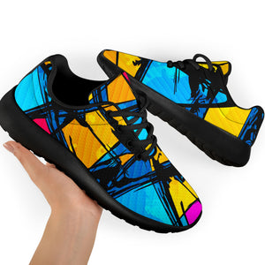 Abstract Psychedelic Graffiti Running Shoes