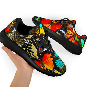 Abstract Colorful Butterfly Print Running Shoes