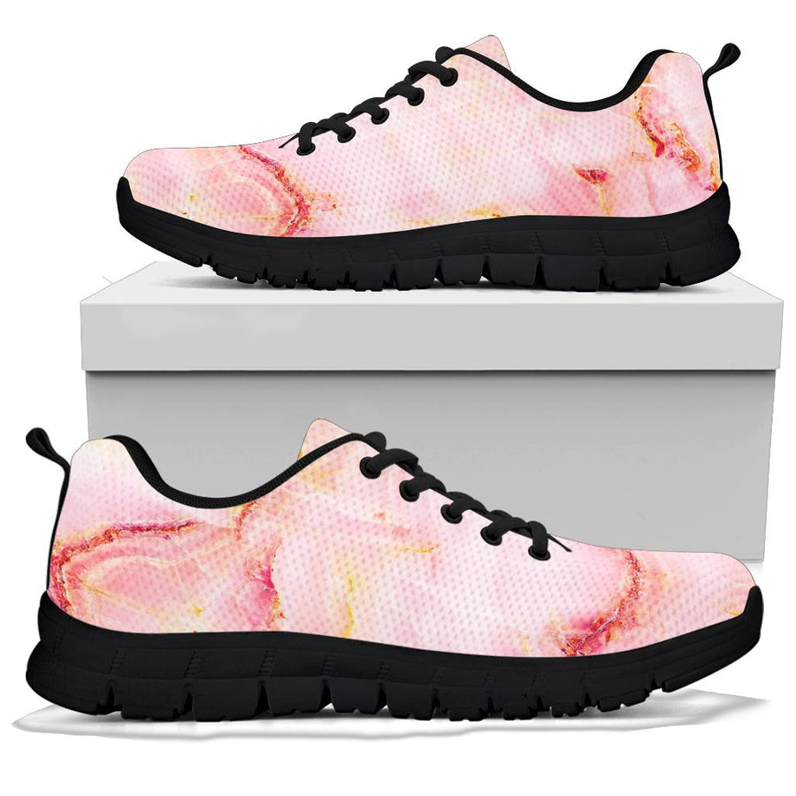 Natural Pink Marble Sneakers