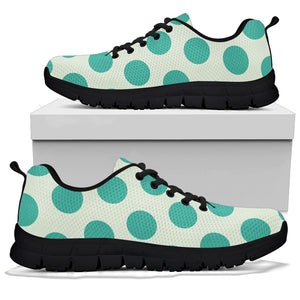 White And Green Polka Dot Sneakers