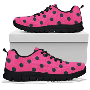 Pink And Black Polka Dot Sneakers