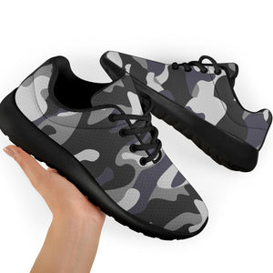 Grey Camouflage Print Running Shoes