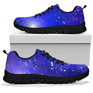 Blue Stardust Space Galaxy Sneakers