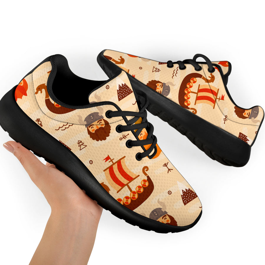 Cartoon Viking Norse Running Shoes
