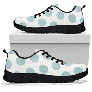 White And Turquoise Polka Dot Sneakers