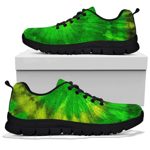 Emerald Green Tie Dye Sneakers