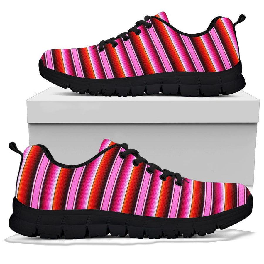 Red And Pink Mexican Baja Sneakers