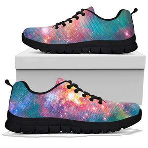 Green Cosmic Space Galaxy Sneakers