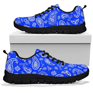 Blue Bandana Sneakers