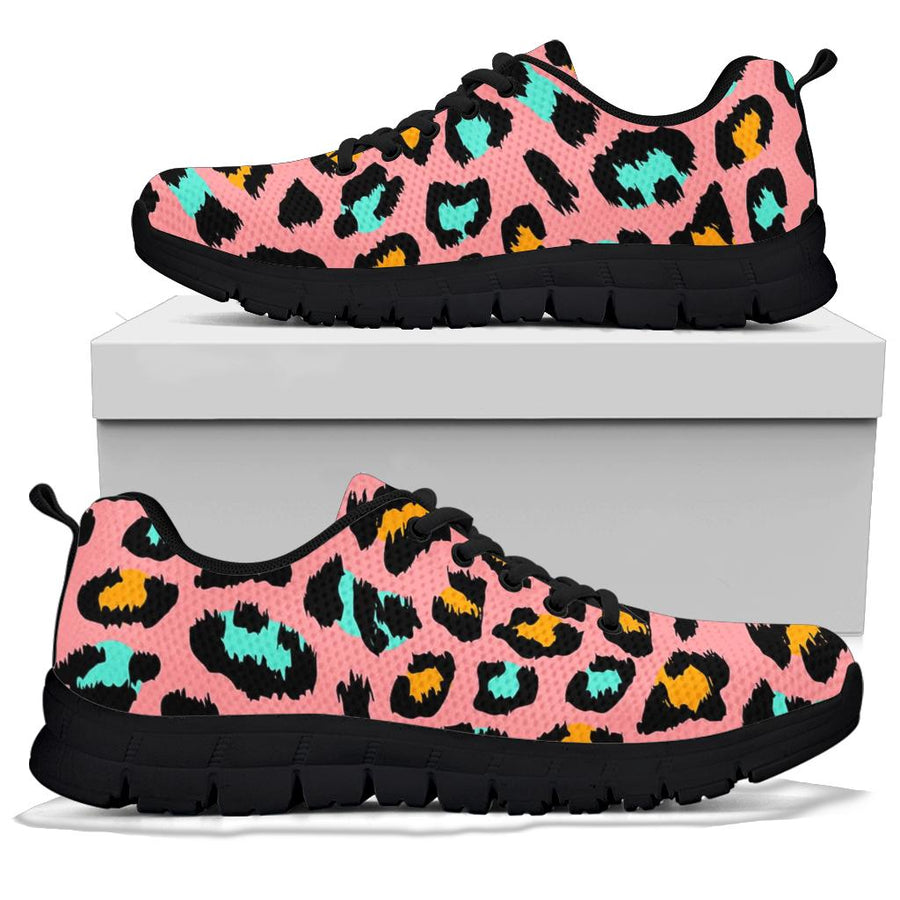 Pink Cheetah Print Sneakers
