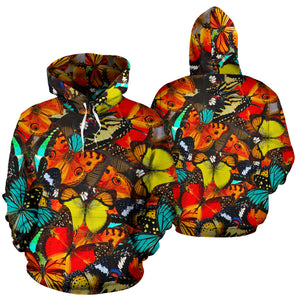 Abstract Colorful Butterfly Print Hoodie