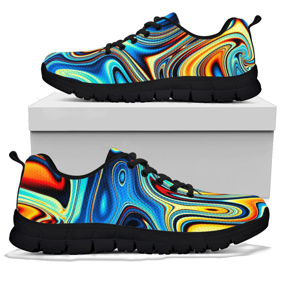 Abstract Wavy Psychedelic Sneakers