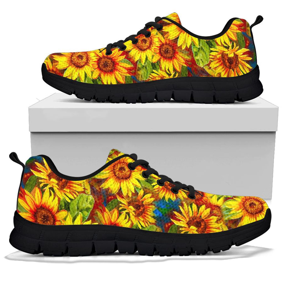 Watercolor Sunflower Sneakers