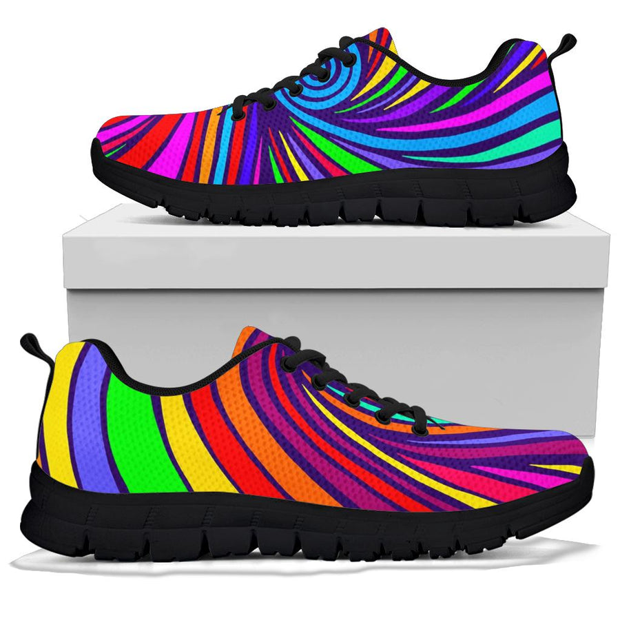 Abstract Psychedelic Colorful Wave Sneakers