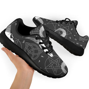 Capricorn Astrology Gothic Witch Running Shoes
