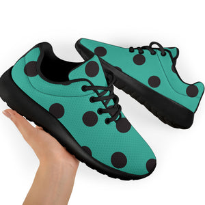 Green Polka Dot Running Shoes