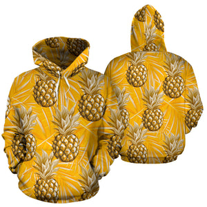 Yellow Hawaiian Pineapple Print Hoodie