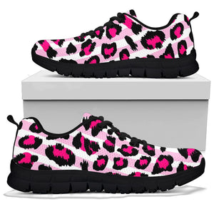 Pink Striped Leopard Sneakers