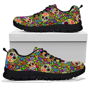Sugar Skull Mexican Floral Sneakers
