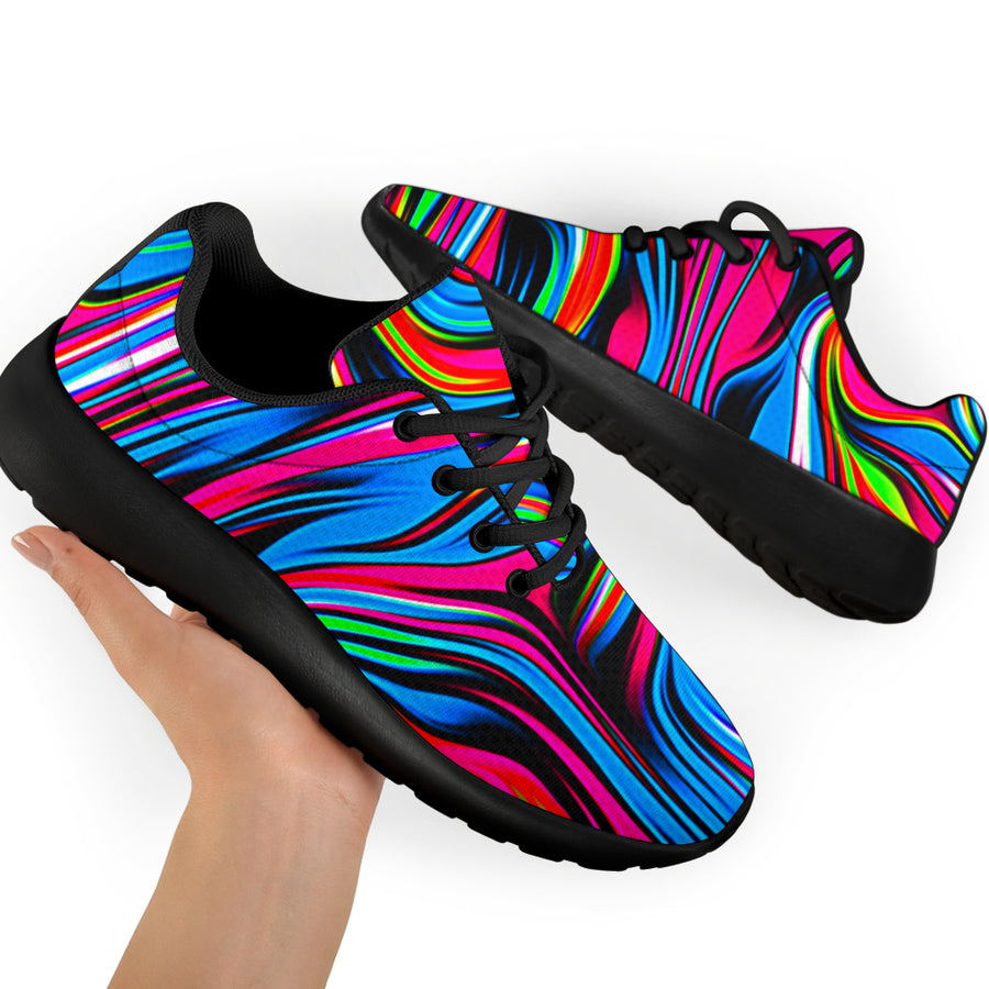 Abstract Trippy Paint Running Shoes