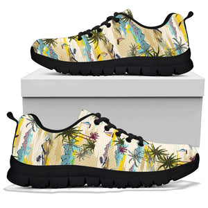 Tropical Palm Lead Island Print Sneakers