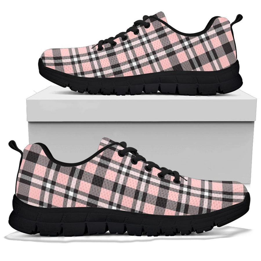 Pink Plaid Tartan Sneakers