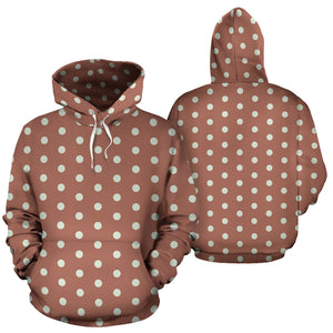 Brown And White Polka Dot Hoodie