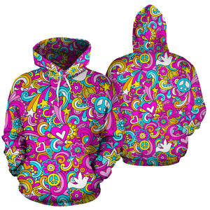 Abstract Hippie Hoodie