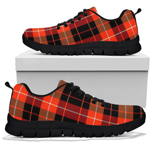 Orange Plaid Tartan Sneakers