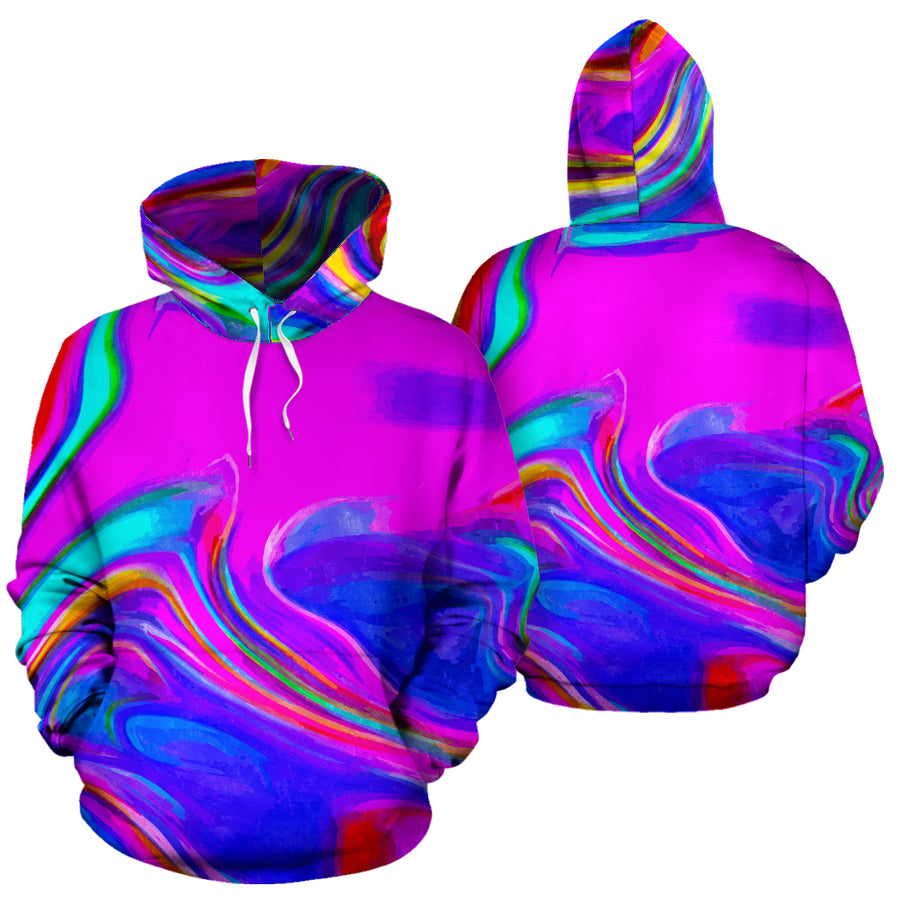Abstract Purple Iridescent Hoodie