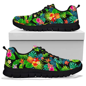 Tropical Hawaiian Floral Print Sneakers