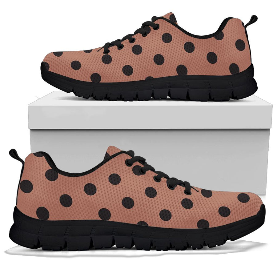 Brown And Black Polka Dot Sneakers