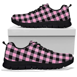Pink Plaid Sneakers